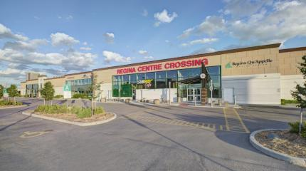 Exterior photograph of Regina Centre Crossing